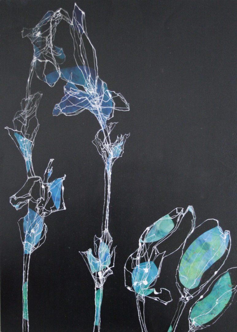 Iris II - Acryl Lasur auf Papier, 70 x 50 cm, 2014 ©Ursula Heermann-Jensen