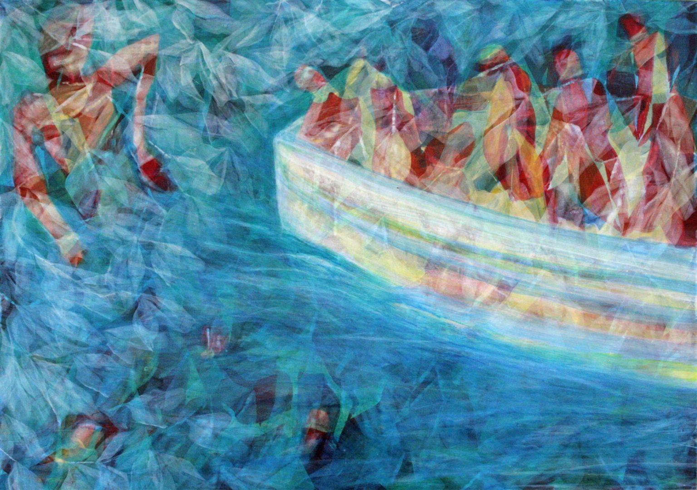 Unterwegs V - Acryl Lasur auf Alu Dibond, 50 x 70 cm, 2018 ©Ursula Heermann-Jensen