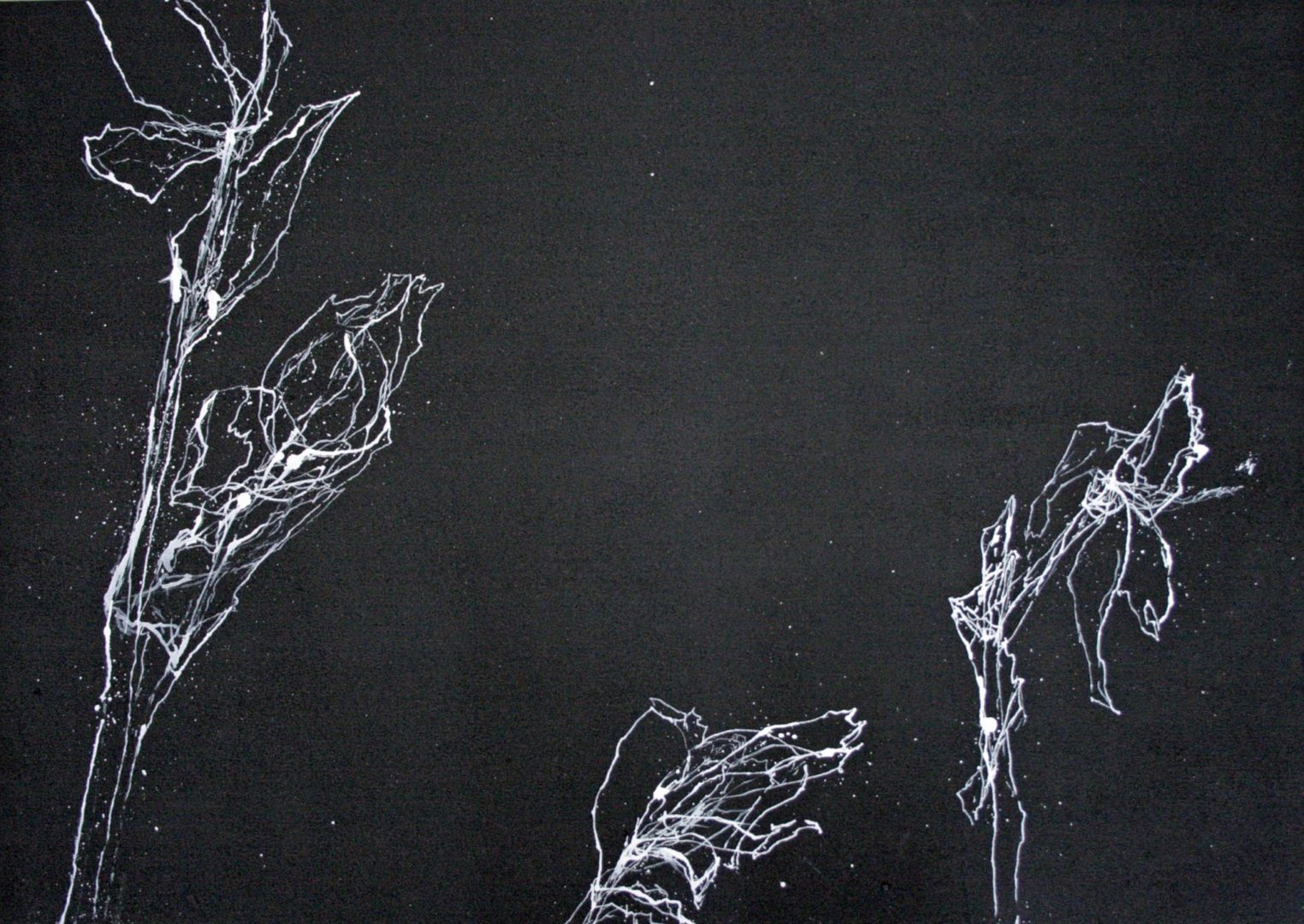 Iris III - Acryl Lasur auf Papier, 50 x 70 cm, 2014 ©Ursula Heermann-Jensen
