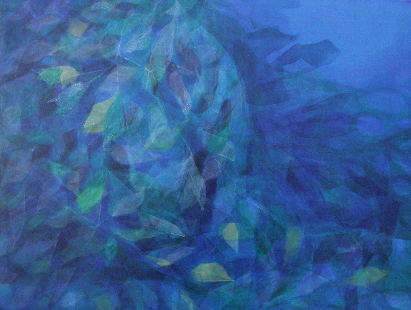 Aquis submersus V - Acryl Lasur auf Leinwand, 60 x 80 cm, 2009 ©Ursula Heermann-Jensen