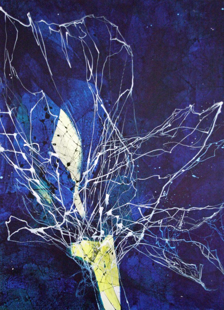 Iris - Acryl Lasur auf Papier, 70 x 50 cm, 2014 ©Ursula Heermann-Jensen