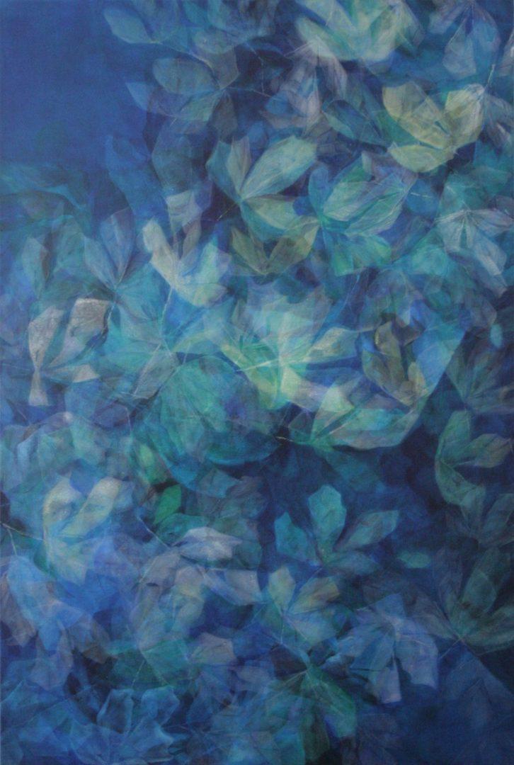 Aquis submersus VI - Acryl Lasur auf Leinwand, 150 x 100 cm, 2009 ©Ursula Heermann-Jensen