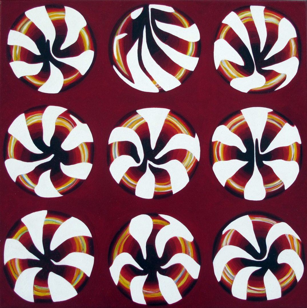 Serial Candys I - Acryl Lasur auf Leinwand, 50 x 50 cm, 2009 ©Ursula Heermann-Jensen